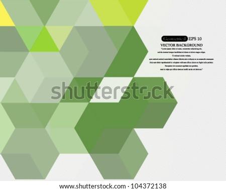 EPS10 Vector Geometrical Concept Design - stock vector