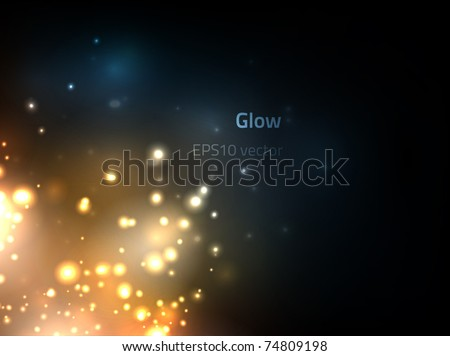 EPS10 vector glow - stock vector
