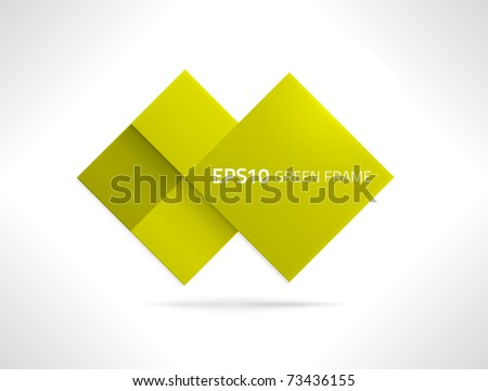 EPS10 vector green frame for your designs - stock vector