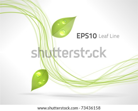EPS10 vector green lines abstraction - stock vector