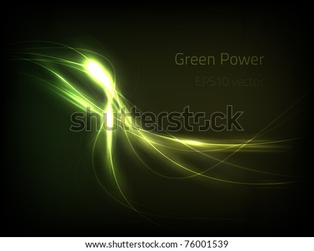 EPS10 vector green power - stock vector