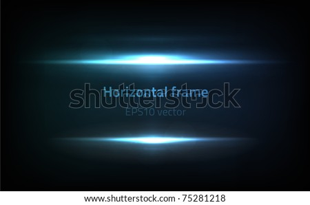 EPS10 vector horizontal frame - stock vector