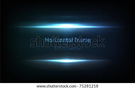 EPS10 vector horizontal frame - stock vector