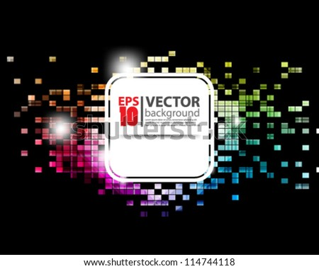 eps10 vector illustraction abstract mosaic background - stock vector