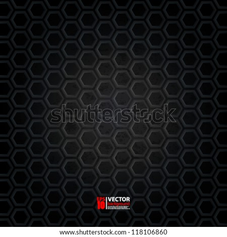 eps10 vector illustration abstract 3D geometric metallic background - stock vector