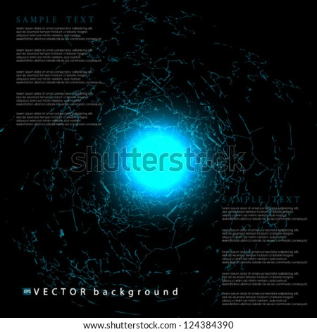 Eps 10 Vector illustration abstract lightning cloud  hole background - stock vector