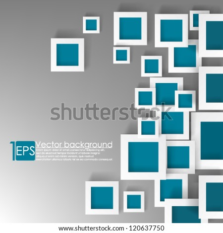 eps10 vector illustration abstract overlapping colorful square background