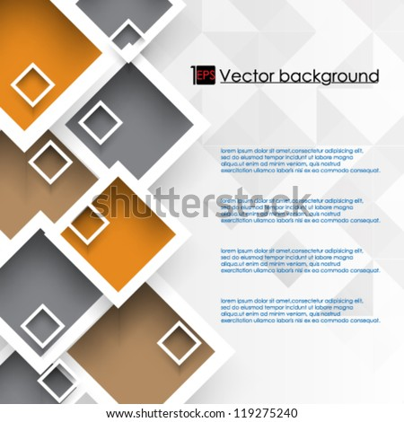 eps10 vector illustration abstract overlapping colorful square background with space for text - stock vector