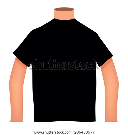 EPS 10 Vector Illustration - Blank T-shirts on white background