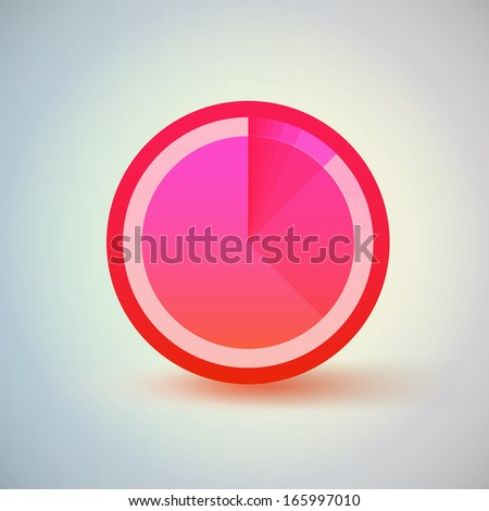 Eps 10 vector illustration  can be used for workflow layout, diagram, chart, pie, number options, presentation, web design. - stock vector