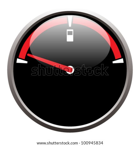 EPS 10 vector illustration of a fuel gauge on a white background.  Transparency and gradients used. - stock vector