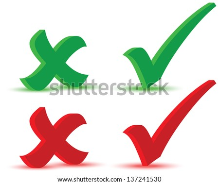 EPS 10 Vector Illustration of Check marks - stock vector