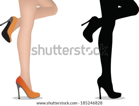 EPS 10 Vector Illustration of female legs with high heels