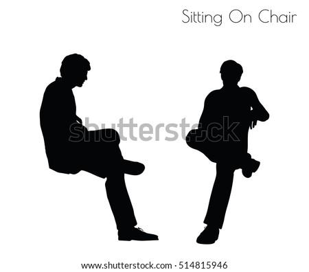 Eps 10 Vector Illustration Man Sitting Stock Vector