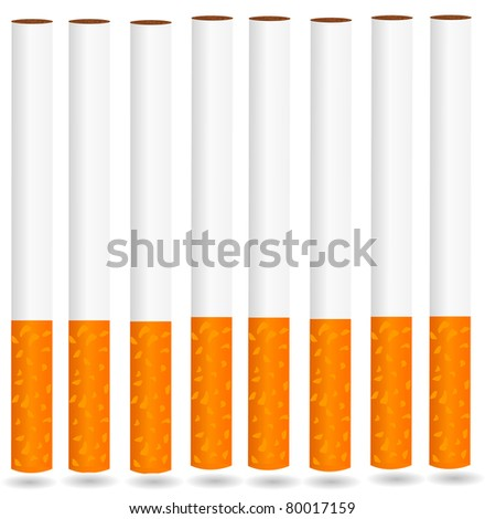 eps8 vector isolated cigarette - detailed realistic illustration - stock vector