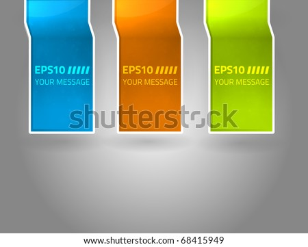 EPS10 vector labels for your design - stock vector