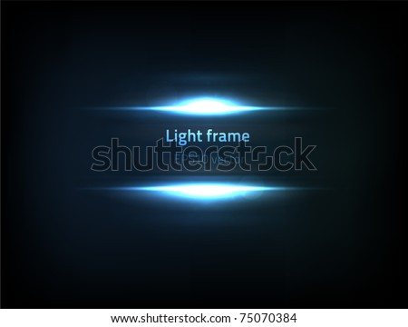 EPS10 vector light frame - stock vector