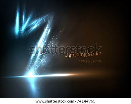 EPS10 vector lightning strike - stock vector