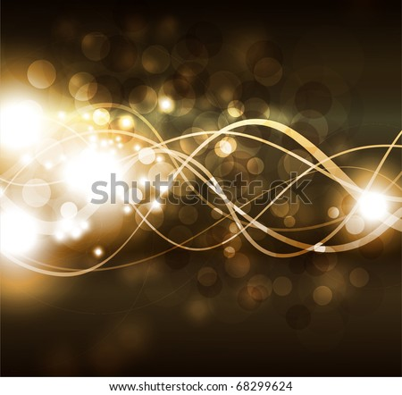 EPS10 vector line abstraction design against dark background - stock vector