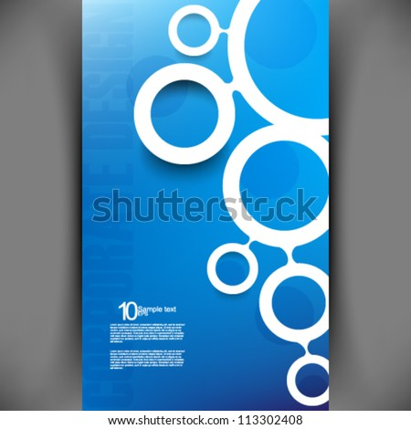 eps10 vector modern corporate background illustration - stock vector