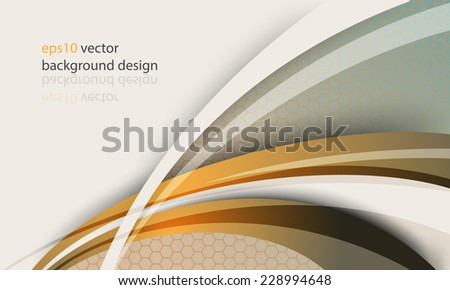 eps10 vector modern design lines elements honeycomb pattern modern business background - stock vector