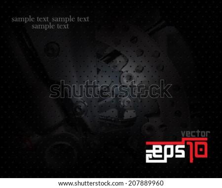 eps10 vector motor wheels visual background - stock vector