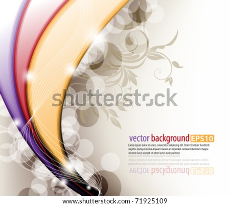 eps10 vector multicolor abstract foliage design - stock vector
