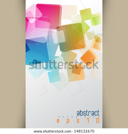eps10 vector multicolor overlapping squares concept background - stock vector