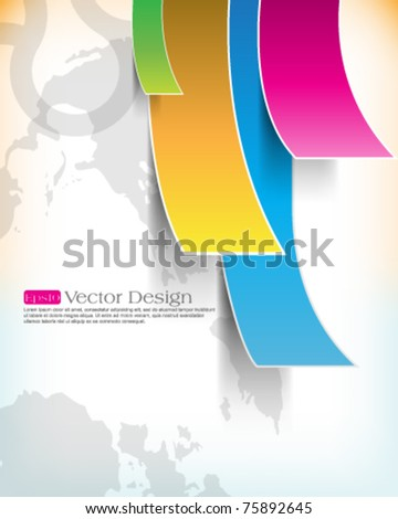eps10 vector multicolor paper background - stock vector