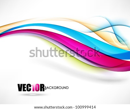 eps10 vector multicolor wave isolated on white background design - stock vector