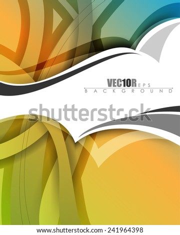 eps10 vector multicolored abstract business background illustration - stock vector