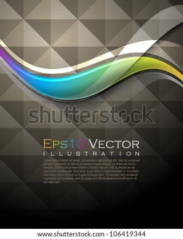 eps10 vector multicolored wave abstract seamless pattern background illustration - stock vector