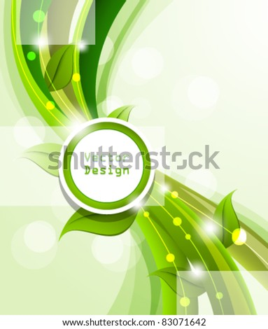 Eps10 Vector Nature Frame Design Background