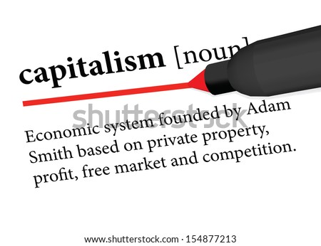EPS 10 Vector of dictionary definition of capitalism