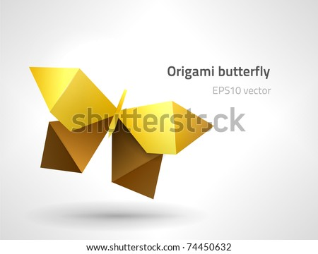 EPS10 vector origami butterfly - stock vector