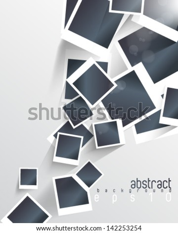 eps10 vector overlapping blank photo frames - stock vector