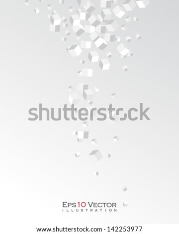 eps10 vector overlapping 3d boxes illustration