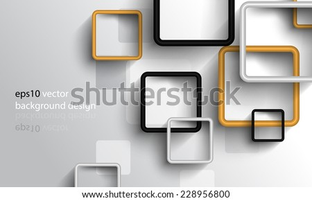 eps10 vector overlapping geometric squares business background - stock vector