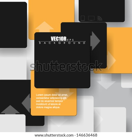eps10 vector overlapping geometric squares design - stock vector