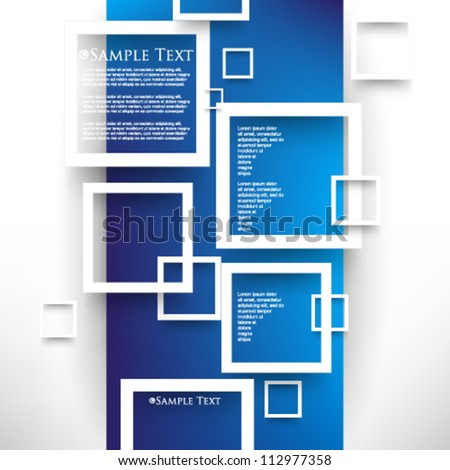 eps10 vector overlapping squares concept background - stock vector