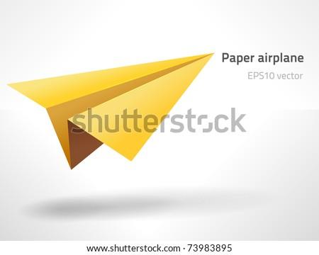 EPS10 vector paper aircraft - stock vector