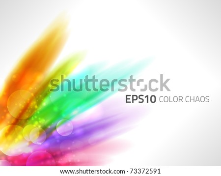 EPS10 vector rainbow colors chaos - stock vector