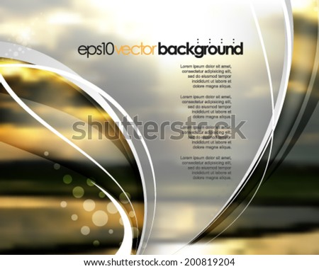 eps10 vector realistic blurred image of sunrise background - stock vector