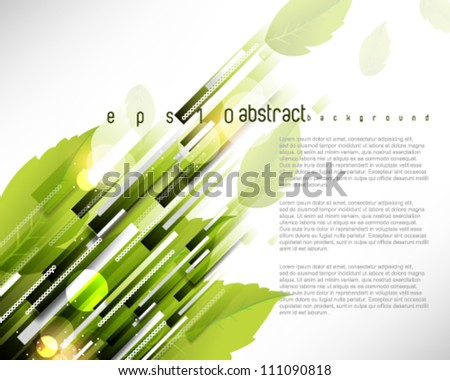 eps10 vector rectangular pattern leaf elements background - stock vector