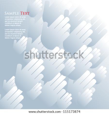 eps10 vector silhouette hands elements background - stock vector