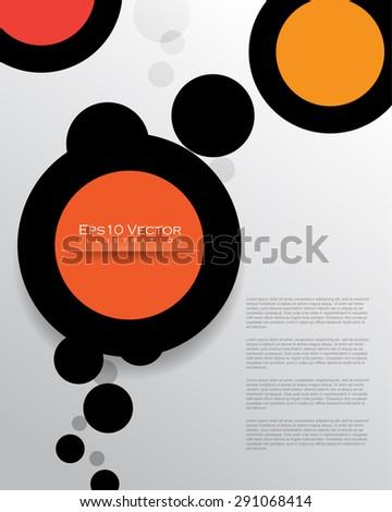 eps10 vector silhouette multicolored bubbles round shape design illustration - stock vector