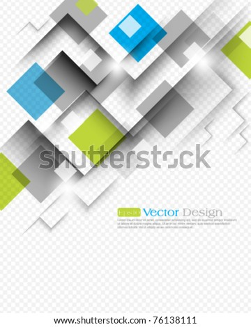 eps10 vector square background concept - stock vector