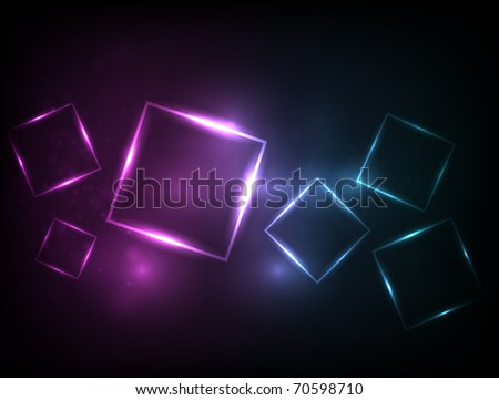 EPS10 vector squares design against a dark background - stock vector