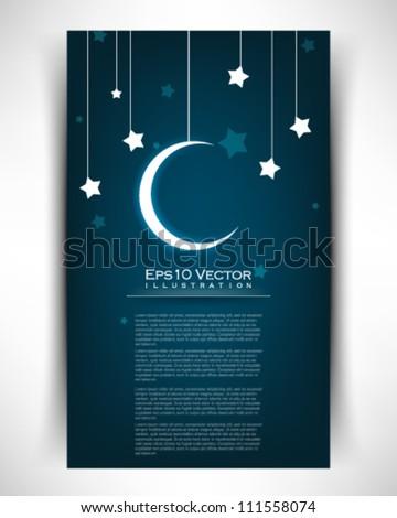 eps10 vector star moon illustration - stock vector