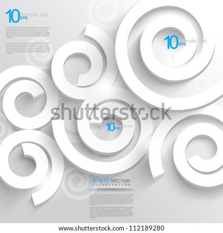 eps10 vector swirl elements illustration - stock vector